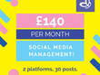 Manage 2 social media platforms