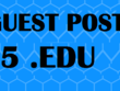 Write & guest 5  Guest Posts on High Authority Edu DA60 TO 90