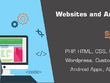 Develop and design website in php html css