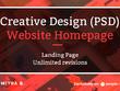 Design creative (PSD) website homepage/landing page