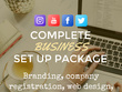 Completely set up your new business and branding