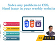 Solve any problem or CSS, Html issue in your weebly website