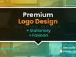 Design Premium Logo + Stationary + Favicon + Font + Source file