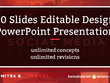 Design 10 slides editable PowerPoint presentation with revision