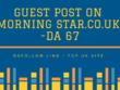 Publish   Guest Post on Morning Star.co.uk  -DA 67