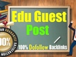 Write and Post 7X Edu Guest Post with Dofollow DA40+ .EDU