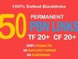50 High TF CF DA PA 35+ Homepage PBN Backlinks