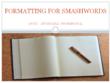Format Your Manuscript For Smashwords
