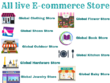 Provide List of all Live Global E-commerce websites.