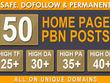 Build, High Quality 50 PBN Backlinks, To Website Improving