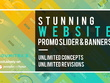 Design you a Stunning Website Promo Slider/Banners