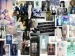 Create a detailed Fashion Design trend board w/colour palette.