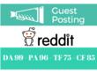 Get you DOFOLLOW UNIQUE BACKLINK on Reddit - Reddit.com DA 99
