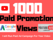 Run Paid YouTube Views Promotion in Any Targeted Country
