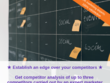 Carry out Competitor Analysis of up to three competitors