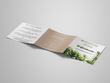 Design a full colour square trifold leaflet