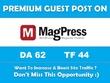 Publish a guest post on MagPress.com - DA 62, TF 44 Do Follow