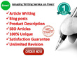 Write 2 x 500 words high quality, unique blog posts on any topic