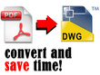 Convert PDF drawings to CAD DWG