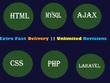 Fix bugs, develop,design website in php or laravel framework