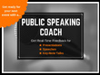 Coach you for public speaking, keynote talks and interviews
