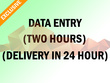 Do 2 hours of Data Entry Deliver in 24 hours