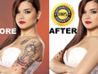 Remove background or tattoo high end photo retouching 25 images