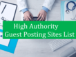 Guest post on 5 quality websites Dofollow