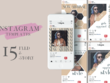 Design instagram feed & story template template