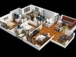 Convert your 2D floor plan to 3D floor plan