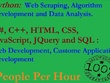 Help you in Python, C#, C++, HTML CSS, JavaScript and SQL