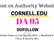 Publish guest post on Cornell.edu, DA95, dofollow backlink