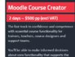 Moodle Course Creator Training
