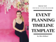 Create one-day event planning timeline template