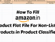 Teach how to upload perfect Amazon Flat file in one go