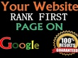 Google Search Ranking (3) Keyword for Your Website Result 100%