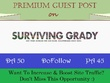 Write & Publish Sports Guest Post on SurvivingGrady.com