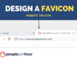 Design a website favicon tab icon from your logo