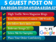 5 Unique Guest Post on DA50 To DA80  News Magazine Websites