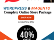 Deliver online shopping store (wordpress/woocomerce/magento)