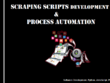 Develop a Scraping Software(Script) to Automate your manual Task