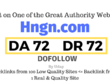Publish a guest post on Hngn.com DA72, DR72