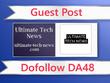 Guest post on Ultimate Tech News - ultimate-tech-news.com - DA48