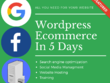 Create your eCommerce website using wordpress