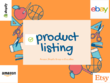Write awesome product listing
