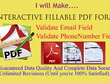 Make 5 pages fillable pdf form With Accuracy within 5 hours