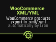 Export WooCommerce products to xml/yml