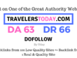 Publish a guest post on TravelersToday.com DA63, DR66