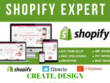 CREATE,DESIGN AND CUSTOMIZE SHOPIFY STORES AND WEBSITES
