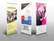Design stunning roller, pull up banner with unlimited revisions